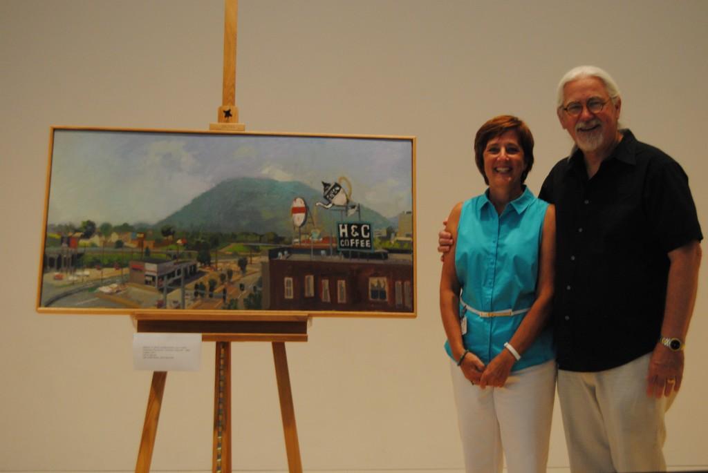 Taubman Museum Director, Della Watkins & cover artist Bill White